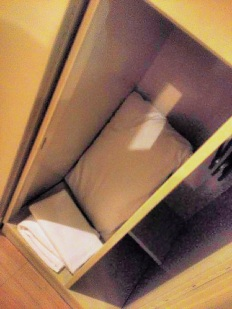 Your locker holds your linens.
